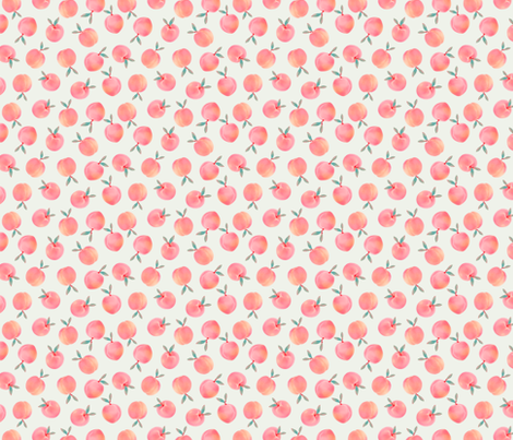 PEACH fabric by kindofstyle on Spoonflower - custom fabric