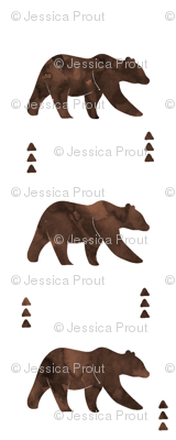 bear || watercolor brown
