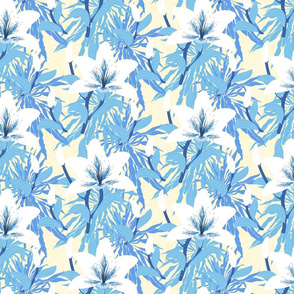 Lilly flowers in blue