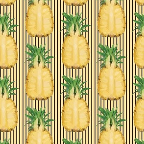 Pineapple Fruit Food Summer Tropical Golden Yellow Hawaii_Miss Chiff Designs