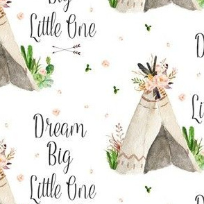 Western Aztec Teepee Dream Big Little One in 4.75""