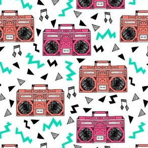 80s boombox // boombox fabric 80s fabric 90s fabric girls trendy music fabric by andrea lauren