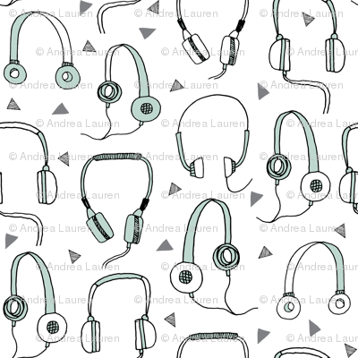 headphones // headphone fabric music musician fabric headphones design
