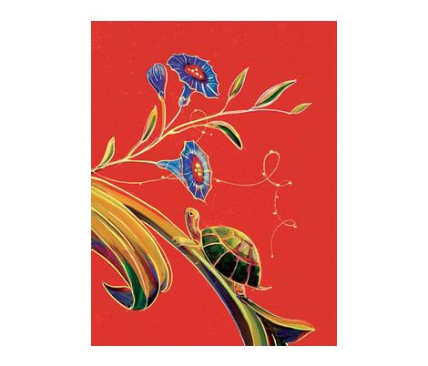 Illuminations_Turtle fabric by jenoiserie on Spoonflower - custom fabric