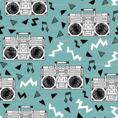 boombox // 80s fabric cassettes cassette fabric music fabric 80s 90s fabric