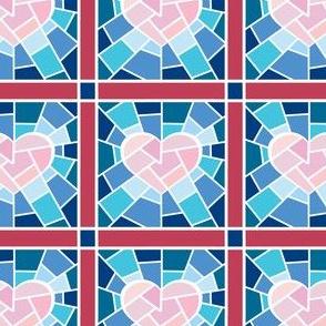 Mosaic heart blues