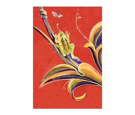Illuminations_frog_ fabric by jenoiserie on Spoonflower - custom fabric