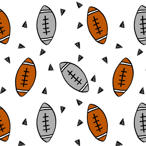 football // american football sports sport footballs college football texas football fabric kids sports fabric cute football pattern andrea lauren andrea lauren fabric fabric by andrea_lauren on Spoonflower - custom fabric