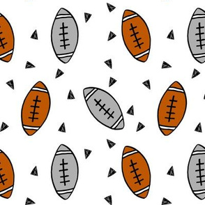 football // american football sports sport footballs college football texas football fabric kids sports fabric cute football pattern andrea lauren andrea lauren fabric
