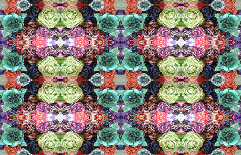 Flowers  designed  by  Danae fabric by adornment on Spoonflower - custom fabric