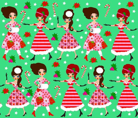 Deschanel Sisters' Christmas fabric by orangefancy on Spoonflower - custom fabric
