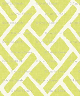 Savannah Trellis // Chartreuse