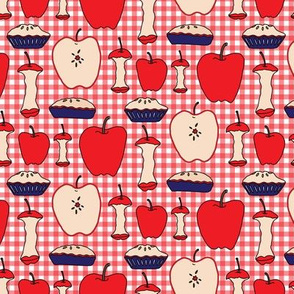 Apple Pie Fruit Food American Teacher Patriotic Picnic Red White Blue 4th of July _Miss Chiff Designs
