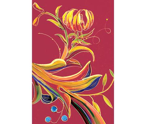 illuminations-lilies fabric by jenoiserie on Spoonflower - custom fabric