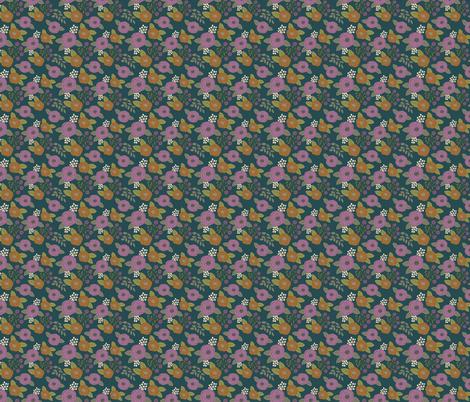 Purple Buds on Peacock fabric by bluebirdcoop on Spoonflower - custom fabric