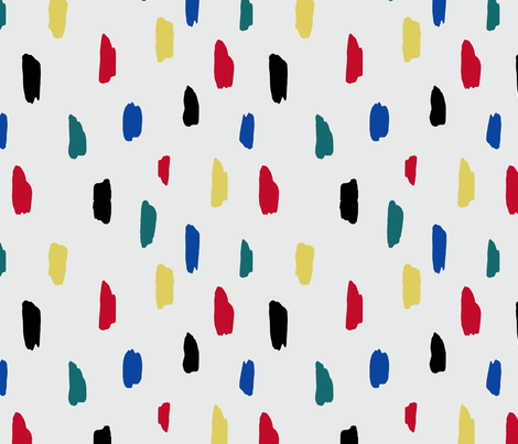 Vintage Finger Paint fabric by milleappeal on Spoonflower - custom fabric
