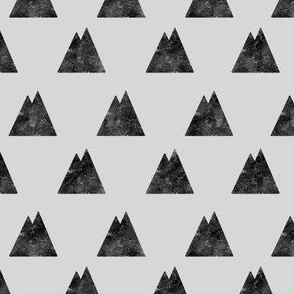 Destroyed Mountains Black on Gray