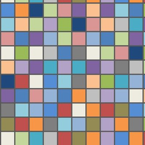 April Squares with Grey Frames