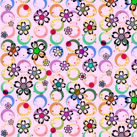 Smallscale Japanese Flower Power fabric by boris_thumbkin on Spoonflower - custom fabric