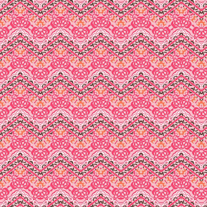 Pink ethnic chevron