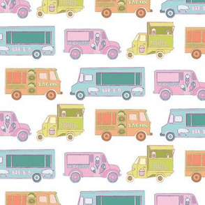 food trucks in white