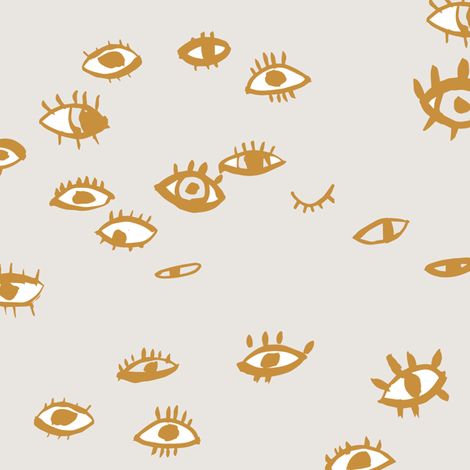 On look out (mustard) fabric by nouveau_bohemian on Spoonflower - custom fabric