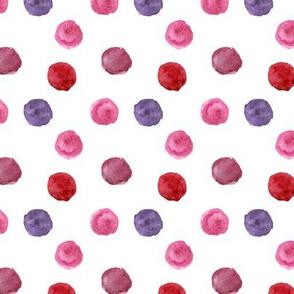 Watercolor pink polka dot