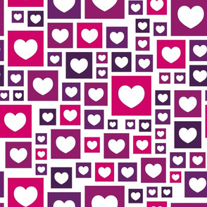 Hearts and squares pattern