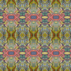 abstract  mauve  and  green design