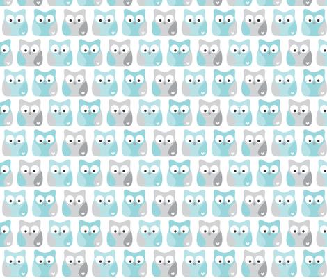 little one baby boy :: owls fabric by misstiina on Spoonflower - custom fabric