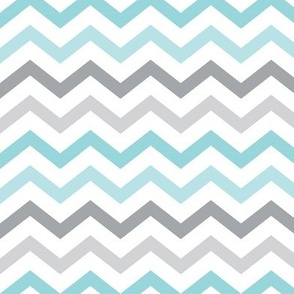 little one baby boy :: chevron