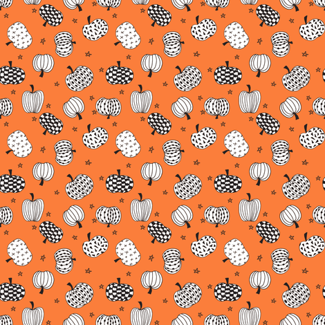 pumpkin // pumpkins halloween orange kids october fall kids baby pumpkins hand-drawn illustration fabric by andrea_lauren on Spoonflower - custom fabric