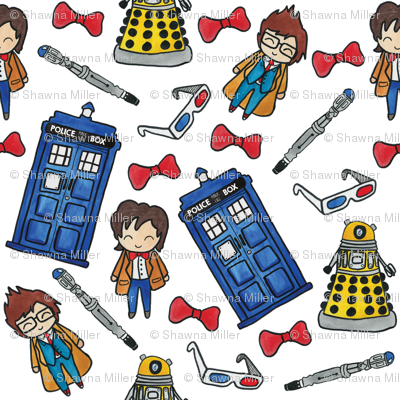 Large Hello Quirky Time Lords