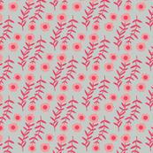 FLORAL pink grey