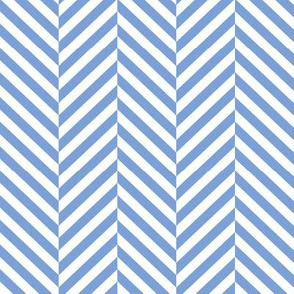 herringbone LG cornflower blue