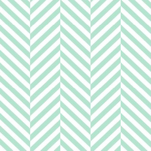 herringbone LG mint green