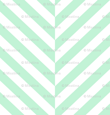 herringbone LG ice mint green