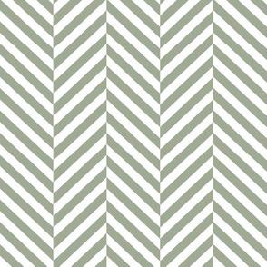 herringbone LG sage green