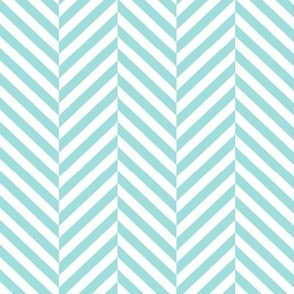 herringbone LG light teal
