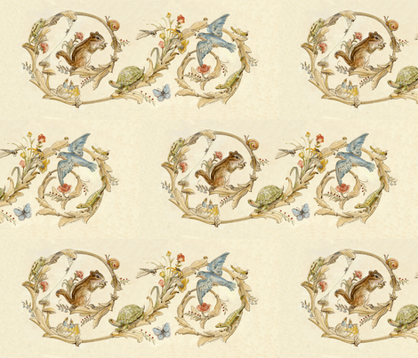 Animal_Roundabout fabric by jenoiserie on Spoonflower - custom fabric