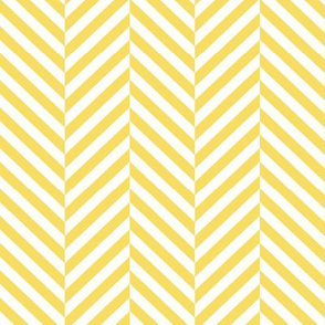 herringbone LG butter yellow