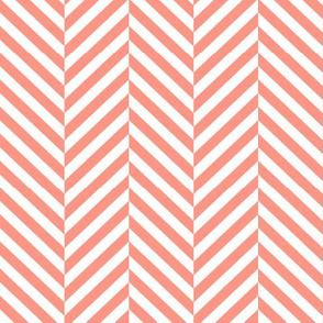 herringbone LG peach
