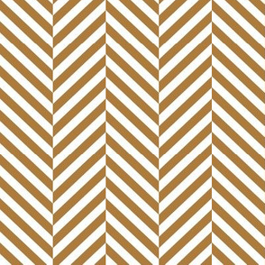 herringbone LG caramel