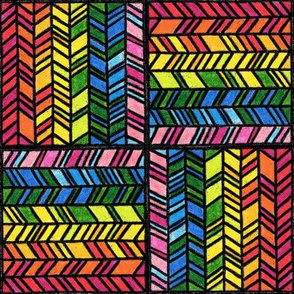 Crayons Chevron cheater quilt