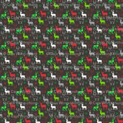 Christmas Deer Tiny Small