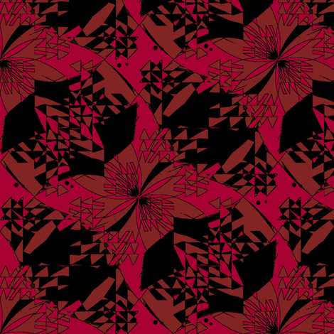 Dragon (Red) fabric by david_kent_collections on Spoonflower - custom fabric