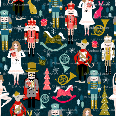 nutcracker // nutcracker fabric xmas holiday christmas fabric by andrea lauren