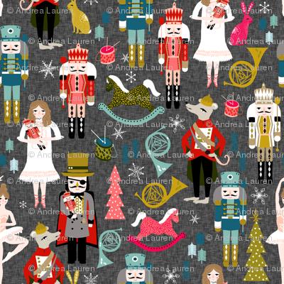 nutcrackers // nutcracker ballet xmas holiday christmas fabric christmas design by andrea lauren
