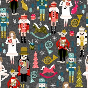 nutcrackers // nutcracker ballet xmas holiday christmas fabric christmas design by andrea lauren