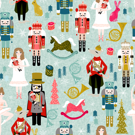 nutcracker // (large) xmas holiday christmas nutcracker ballet christmas tree fabric by andrea lauren fabric by andrea_lauren on Spoonflower - custom fabric